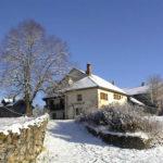 La ferme des Pratz sous la neige